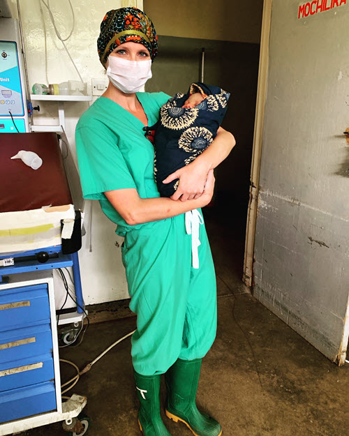 elisabeth with baby